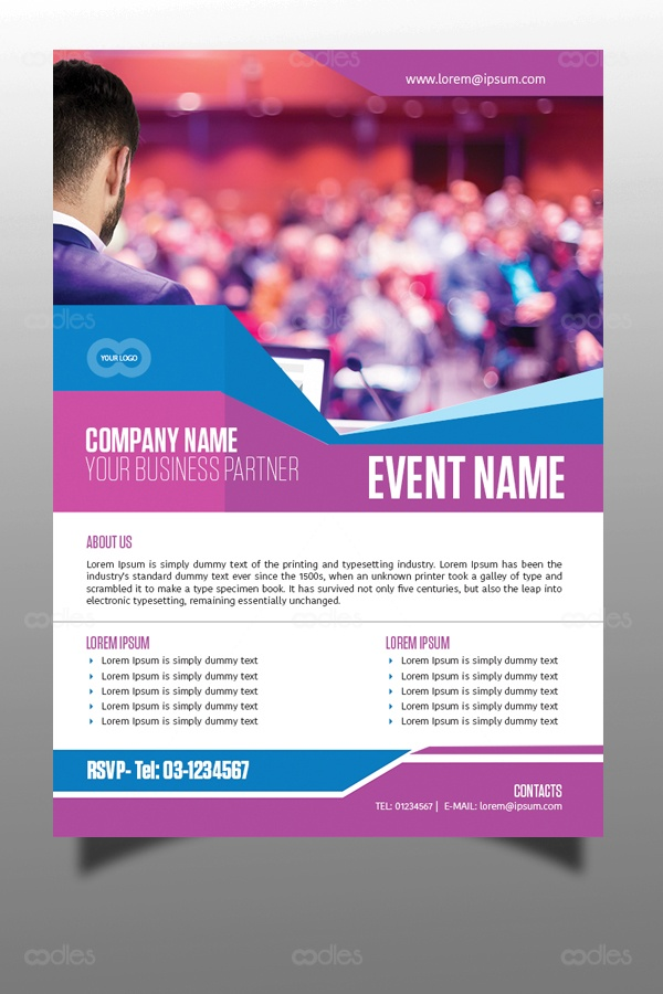 corporate business events flyer template oodlethemes com