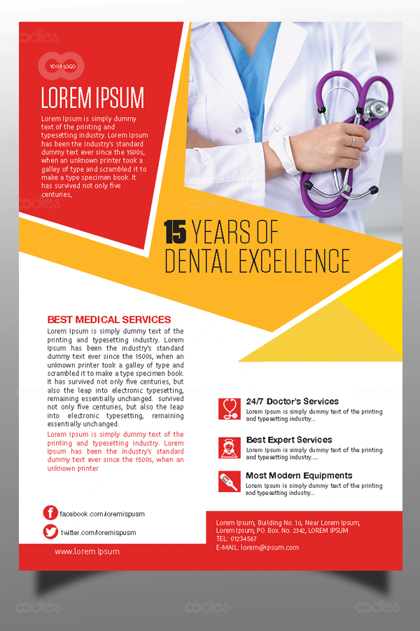 Medical And Healthcare Marketing Flyer Templates Oodlethemes