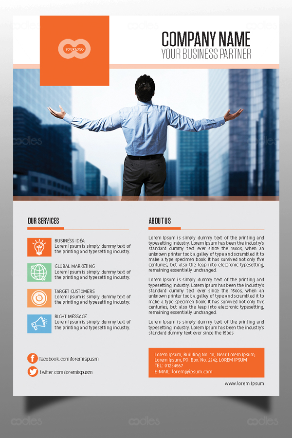 Business And Direct Marketing Flyer Template Oodlethemes