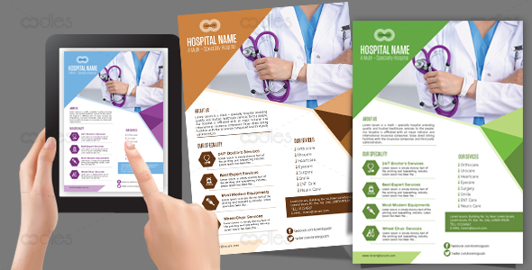 Healthcare Flyer Design Template Oodlethemes