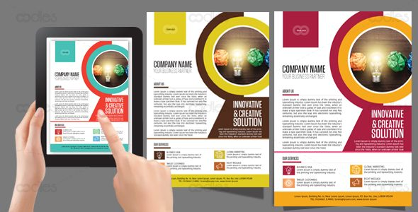 creative business flyer template oodlethemes com