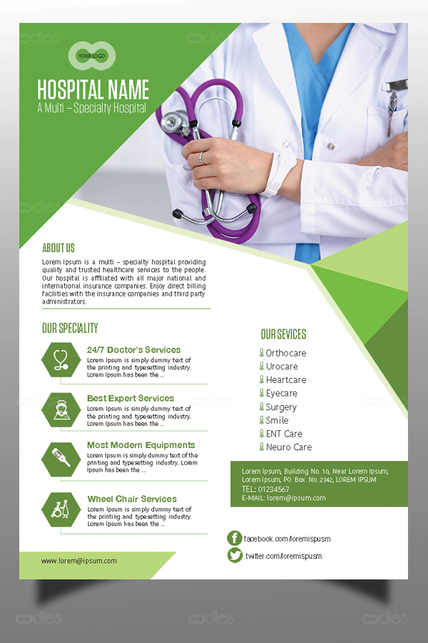 Healthcare Flyer Design Template  OodlethemesCom