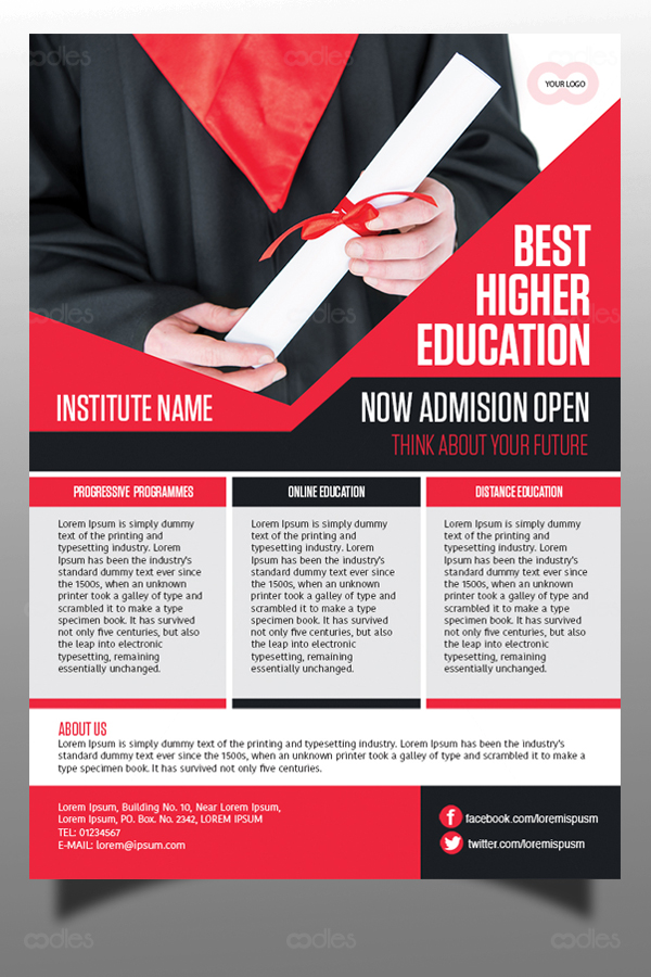 Educational Institute Flyer Template Oodlethemes