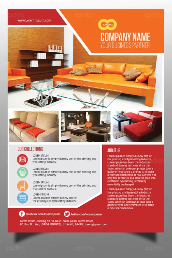 furniture shop sales promotional flyer design template oodlethemes com
