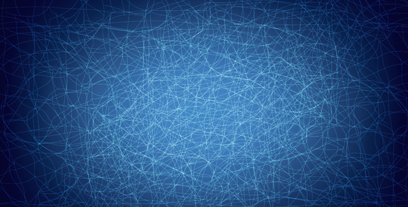 connected line blue background