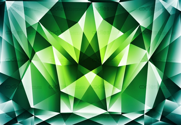 Green-polygonal-abstract background-vector