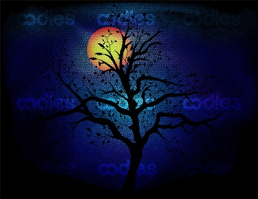 OO00504460- Moon light glass art vector-WM